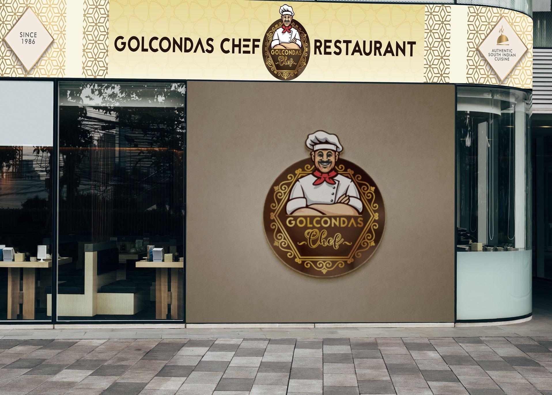 Mockup of a restaurant wall signage