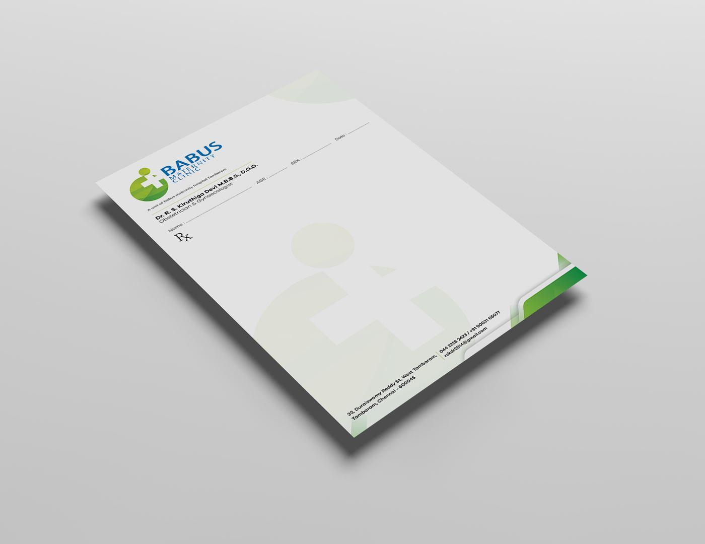 Prescription pad-infinarts-graphic-design-agency-in-chennai
